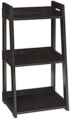 Amazon Com Closetmaid 3310 No Tool Assembly Ladder Shelf Narrow 3 Tier Black Walnut Home Kitchen Bookcase Closetmaid Ladder Bookcase