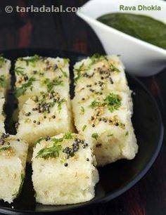 The Rava Dhokla is quick and easy to make, without requiring any grinding or fermenting, yet it is as fluffy and tasty as you would expect a dhokla to be, making it an ideal dish to whip up for breakfast. Just mix all the ingredients, let them rest for half an hour, and then steam the batter The tempering added on top of the dhokla ...