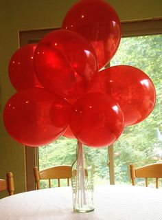 Project Nursery - Vintage Sesame Street Birthday Party Red Balloons