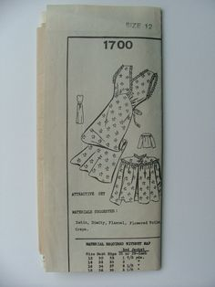 40s Mail order 1700 nightgown and caplet