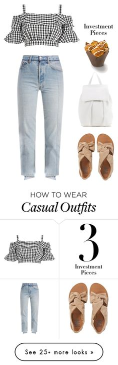 """Casual +summer"" by stellaves on Polyvore featuring River Island, Vetements, Billabong, Mansur Gavriel, Summer and casualoutfit"