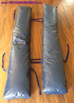 Almohadones para taburetes largos con tiras para atar, myvioletdesigns.com