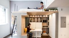 Bespoke furniture solutions are a more expensive way to fit out a small space. In this tiny loft designed by Icosa and ...