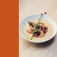 shrimp and grits. a fairly healthy version with simple ingredients.