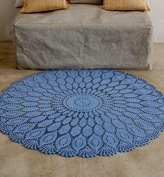 Modèle tapis en rosace au crochet - Modèles tricot accessoires - Phildar