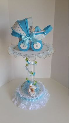 Baby boy centerpiece for baby shower by Sliceofdreams on Etsy