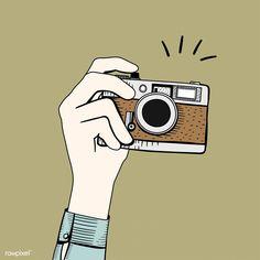 Vector of vintage camera