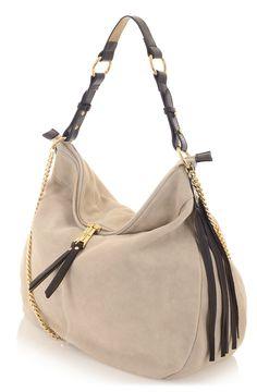 d32df2361a6 Paul's Boutique HS15 Collection || Alexa slouchy suede shoulder bag in  Stone suede. www.paulsboutique.com #paulsboutique