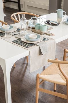 Toronto's Favourite Tableware Shop Now Offers The Chicest Home Goods Champagne Cooler, Ceramic Tableware, China Sets, Wishbone Chair, Home Goods, Shop Now, Dining Table, Flooring, Entertaining