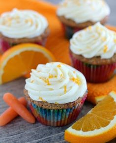 JQ's Interesting Likes: Coconut Carrot Cake Cupcakes with Orange Cream Cheese Frosting #food