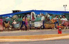 """san antonio street murals   San Antonio Street Mural"""" by Brian Gaynor   Redbubble"""