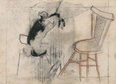 Silvio Dworecki, SEM TÍTULO, 1988, CARVÃO E PASTEL SOBRE PAPEL, 41 X 57 cm