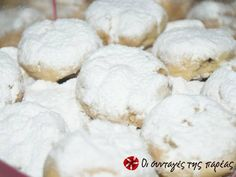 Kourabiedes Recipe, Greek Sweets, Greek Cooking, Christmas Cookies, Cooking Recipes, Bread, Cake, Desserts, Food
