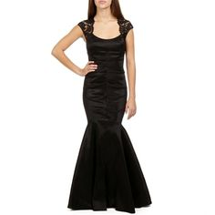 Rain-Black Lace and Taffeta Prom Dress ($190) via Polyvore