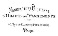 Paris address printable (instructions on how to use freezer paper as a transfer…