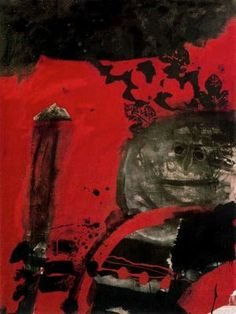 """Antoni Clavé Sanmartí (1813 - 2005). """"Guerrier au fond rouge, 1973"""". Óleo sobre tela. 116 x 89 cm."""