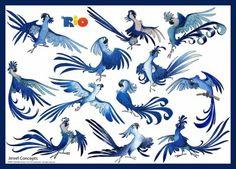 Viver Linhas Biblioteca: Rio (2011) - Character Design