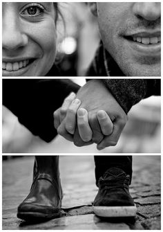 Such a cute idea for engagement pictures!