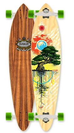 Arbor Koa Fish Pintail Complete Longboard Skateboard $179.95 at Action Board Sports absboards.com