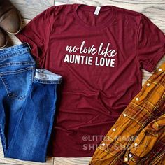 Mom Shirts Discover Your place to buy and sell all things handmade No Love Like Auntie Love Auntie Shirt Shirts for Aunts Aunt T Shirts, Cute Shirts, Women's Shirts, Sister Shirts, Auntie Gifts, Design Mandala, Mama Shirt, Niece And Nephew, Boyfriend T Shirt