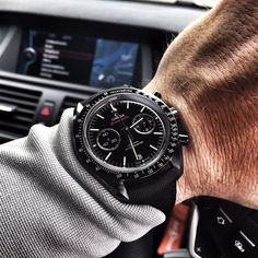 Omega Speedmaster - DARK SIDE OF THE MOON - 44mm (311.92.44.51.01.003) Brushed and polished ceramic case, diameter 44mm. Water resistant to 50 meters. Omega automatic Calibre 9300 movement with date and chronograph function. Black dial with luminous hour markers. Black ceramic tachymeter bezel. Stunning Presentation Box including hang tag, manual, polishing cloth warranty card and pictogram card. As new condition - first purchased 15/10/14. Available for immediate delivery or collection…