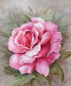 Fabric Painting, Painting & Drawing, Watercolor Flowers, Watercolor Paintings, Rose Art, Flower Wallpaper, Vintage Flowers, Flower Art, Canvas Art