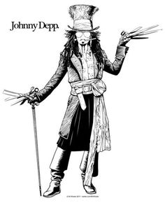 The Ultimate Johnny Depp Edward Scissorhands Jack Sparrow Pirates of the Carribean Sweeney Todd Alice in Wonderland Mad Hatter - Movies I love Johnny Depp Roles, Johnny Depp Characters, Johnny Depp Personajes, Arte Do Hip Hop, Jonny Deep, Fear And Loathing, Captain Jack Sparrow, Sweeney Todd, Jolie Photo
