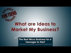 What are Ideas to Market My Business? Join presenters Carol Topp, author of the Micro Business for Teens series, and Rachel Coker, teenage author and micro business owner, as they discuss some techniques to use to market your product or service idea to a broader reach.  In the video, Rachel explains how she has used giveaways to expand her reach and gain new followers and fans on her social media pages.