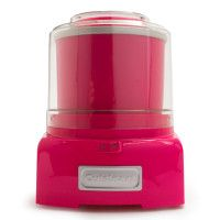 Summer isn't summer without homemade ice cream. I'm not usually a hot pink girl, but it seems like the right color for such a fun appliance.