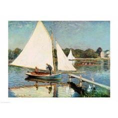 Posterazzi Sailing at Argenteuil c1874 Canvas Art - Claude Monet (36 x 24)
