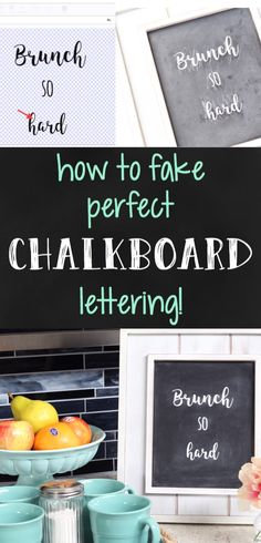 This easy trick makes it so easy to get perfect chalkboard signs every time!