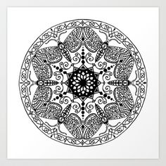 Moth Mandala Art Print by Freja Friborg - $18.72    MY NEXT TATTOO. :D