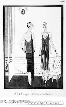 Vogue,  April 1926. Two robes designed by Coco Chanel.