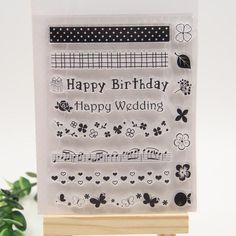 Happy birthday  Silicone Stamps