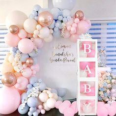 Gender Reveal Balloons, Gender Reveal Party Decorations, Baby Gender Reveal Party, Girl Baby Shower Decorations, Baby Shower Themes, Gender Reveal Banner, Gender Party, Decoracion Baby Shower Niña, Idee Baby Shower