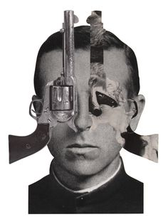 gun, gun collage, gun illustration, gun reinterpretation