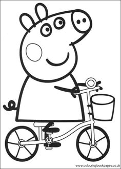 coloring page Peppa Pig on Kids-n-Fun. Coloring pages of Peppa Pig on Kids-n-Fun. More than coloring pages. At Kids-n-Fun you will always find the nicest coloring pages first! Peppa Pig Coloring Pages, Family Coloring Pages, Valentine Coloring Pages, Cartoon Coloring Pages, Coloring Pages To Print, Coloring For Kids, Printable Coloring Pages, Coloring Pages For Kids, Coloring Books
