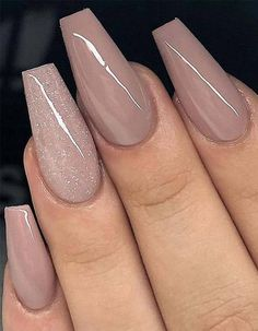 59 Beautiful Nail Art Design To Try This Season - long coffin nails , glitter na. - 59 Beautiful Nail Art Design To Try This Season – long coffin nails , glitter nails, mixmatched n - Beautiful Nail Art, Gorgeous Nails, Pretty Nails, Beautiful Hands, Coffin Nails Long, Long Nails, Short Nails, Acrylic Nails Coffin Classy, Coffin Shape Nails