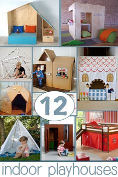 playhouses that you can make - I kinda want them all!