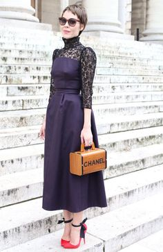 bc15a75e1e8 Trending Street Style Fashion  Chanel Bag. Fashion Designer Ulyana  Sergeenko Street Style in Paris