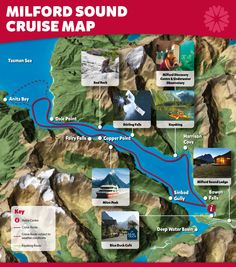 Milford Sound Cruise Map - Southern Discoveries