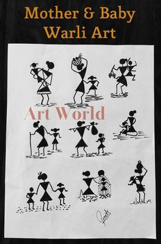 New diy art work wall how to make 48 Ideas Worli Painting, Pottery Painting, Fabric Painting, Madhubani Art, Madhubani Painting, Art N Craft, Diy Art, Art Indien, Fabric Paint Designs