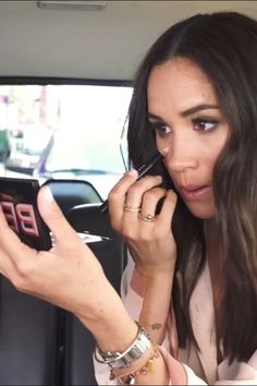 Meghan Markle Did Her Makeup in the Back of an Uber, and We Can't Look Away