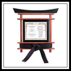 Martial arts belt display in a torii gate style - www.Kataaro.com