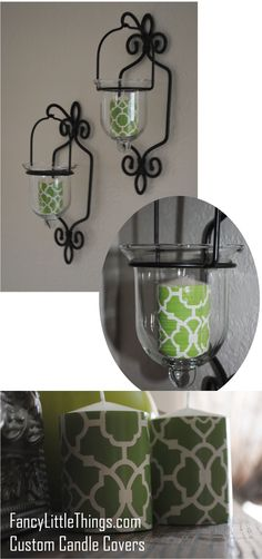 DIY decorative candles