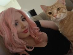 🐰 (and her fur baby, Boo) looking EGGstra cute in Regina 💕😻. Lace Front Wigs, Lace Wigs, Drag Wigs, Darwin, Cosplay Wigs, Lace Frontal, Pink Hair, Hair Inspo, Happy Easter