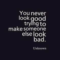 Fb you never look good trying to make someone else look bad