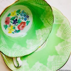 A personal favorite from my Etsy shop https://www.etsy.com/ca/listing/592821073/foley-english-bone-china-spearmint-green