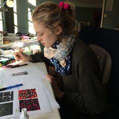 enSoie designer Anna Meier in her Atelier