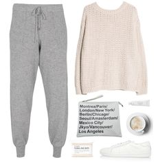 A fashion look from December 2014 featuring MANGO sweaters, 360 Sweater pants and Yves Saint Laurent sneakers. Browse and shop related looks.